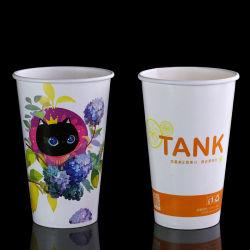 Одной стене стиле 12oz одноразовые напитков чашку бумаги с логотипом