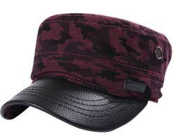 La moda casual Dama Faux aviador del ejército militar sombreros gorros
