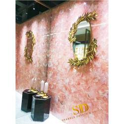 Transparenter Rosen-Quarz/rosafarbene Kristalledelstein-Fliesen für Badezimmer-Wand-und Fußboden-Dekoration