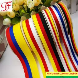Banda de tejido de color de bandera de Alemania/doble cinta de satén de cara única Grosgrain puro - Cuadros de cáñamo de Organza cinta metálica de la fábrica de cinta de tafetán