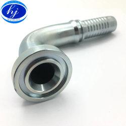 Hydraulischer Hochdruckschlauch der Schlaufen-SAE 90 Grad-Rohr-Flansch-Befestigungen mit 6000psi 87691