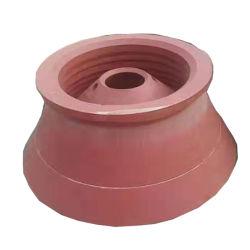円錐形の粉砕機機械ふたボールはさみ金のための円錐形の予備の高いマンガン