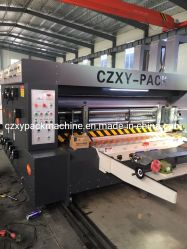 De Alta Velocidad automático caja de cartón ondulado impresión troquelado de asignación de fechas de la máquina de embalaje