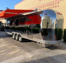 이동할 수 있는 부엌 트레일러 영국 BBQ 음식 트럭 체더링 음식 손수레 간이 건축물 오스트레일리아 Kebab 음식 트레일러 용인 기류 스테인리스 음식 트럭 부엌