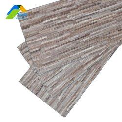 La tuile de bois stratifié plastique PVC rigide étanche de luxe de base du revêtement de sol en vinyle à l'intérieur cliquez sur le commerce de gros Plank Flooring