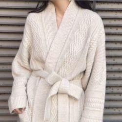 Mesdames fashion chaud de la laine occasionnel peignoirs de bain