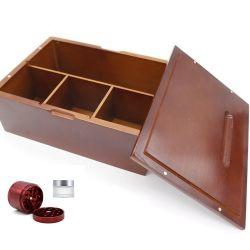 Dom para o país irmão jóias de madeira estilo Trinket vários artigos Organizador de armazenagem de caixas com design entalhado