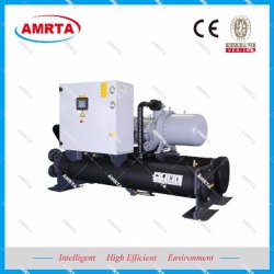 50ton compresor Bitzer enfriadores de tornillo refrigerado por agua y bomba de calor/Siemens Plc del sistema de refrigeración refrigeración industrial