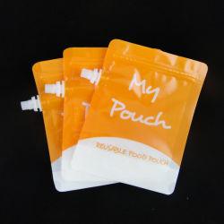 Impresión directa de fábrica plegable de exquisito de la bolsa de la boquilla de líquido