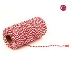 Verkoop 2mm Kindergarten DIY Handmade 2-kleuren geplet lijn touw