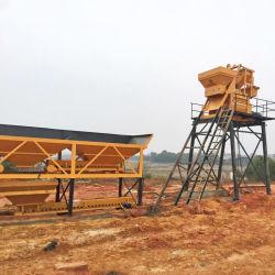 Novo ignore o guindaste mini fábrica de mistura de lote de concreto de mecanismos concretos