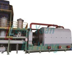 Alta qualidade de vida dos resíduos/Pneu de borracha ou plástico / Óleo negro de carbono/cabos de aço fábrica de pirólise