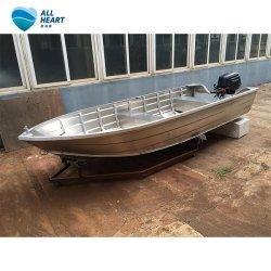 Vタイプ底が付いているAllheart 4mの小さいアルミニウムボートの漁船