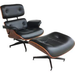 Hotel salle de séjour Président Eames Chaise longue avec pouf