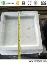 Bianco 부엌 목욕탕을%s Carrara 백색 갈린 대리석 격판덮개