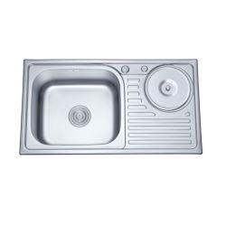 Aço inoxidável elegante mobiliário de cozinha com pia Waste-Bin Ss 8245