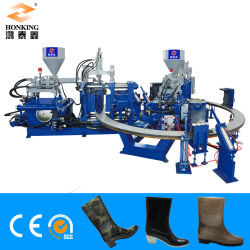 PVC雨靴か形成するGumbootsの靴の注入作る機械を(2カラー)