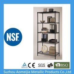 """NSF утвердил Регулируемая стальная проволока металлических стеллажей для установки в стойку (36""""x14""""X72""""X5уровней)"""