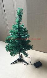 Mini55cm grüner künstlicher Weihnachtsbaum mit 20PCS LED Lichtern für Dekoration