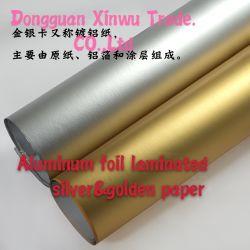 중국 금속 은 알루미늄 호일은 레이블 인쇄를 위한 금속을 입힌 종이를 박판으로 만들었다