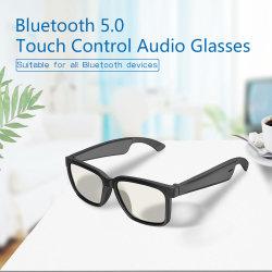 A2 Smart 5.0 Chamada música Bluetooth Stereo Audio Voice Assistant óculos, Substituição de lente de bricolage, Apple / sistema Android Pode Match-Two lentes podem ser substituídas