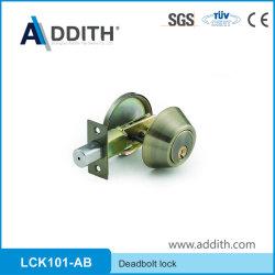 Combo de aleación de zinc cilíndrico de la puerta de entrada con llave la perilla redonda Juego de bloqueo de cerrojo Herraje de muebles