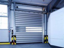 Exterior Industrial turbilhão de alumínio com isolamento térmico de ação rápida de Segurança Garagem Overhead enrolar o rolo de Depósito de metal Espiral Embobinamento Porta de Alta Velocidade