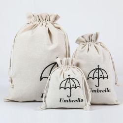 заводская цена многоразовые печатные разработке нестандартного хлопка кулиской, оптовая торговля природным Canvas хлопок сумка для украшения косметические подарок Обувь Одежда продуктовый упаковки