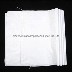 Plaine sac tissé PP prêt à expédier la taille du stock en PP blanc Sac tissé pour les engrais PP Sac Woevn