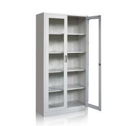 Governi di memoria dentali utilizzati laboratorio della porta a battenti dell'archivario del metallo di vetro dell'armadietto da vendere le forniture di ufficio d'acciaio laminate a freddo