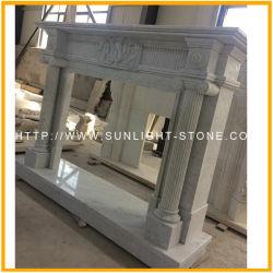Weißer Marmorkamin Italien-Bianco Carrara für Ihr Haus