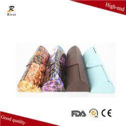 Estojo de couro artesanais coloridos para copos