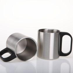 Kundenspezifisches Kaffee-Arbeitsweg-Becher-Kaffeetasse-thermisches Cup erhitzte Edelstahl-doppel-wandigen kundenspezifischen Firmenzeichen-Arbeitsweg-Becher