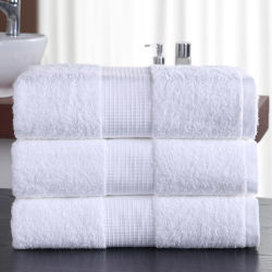 Commerce de gros 100% coton Hôtel face à Terry Serviette Serviette de bain