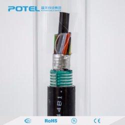 Cavo ottico sepolto diretto incagliato esterno GYTA53 della fibra del tubo allentato di doppio strato