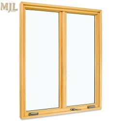 Nuevo diseño de seguridad Estándar europeo de madera compuesto de aluminio doble ventana