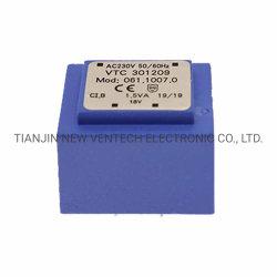 コントローラの製品のためのEi3012シリーズ1.5va-1.9vaシェルまたはカプセル化されるか、または薄板にされたか自動車またはVacumのエポキシ樹脂Pottingまたは高圧または電源変圧器