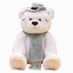 Haute qualité de l'ours en peluche doux farcies avec une écharpe