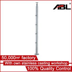 Acero inoxidable 316 de 50,8 mm de diámetro de tubo redondo barandilla Post