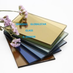 4mm 5mm 5.5mm abgetönte/dunkelblaue/dunkelgrüne/Bronze/freie/Goldene/Rosa/dunkles graues/Eurograu/Ford-blaues/hellgrünes reflektierendes Floatglas 6mm