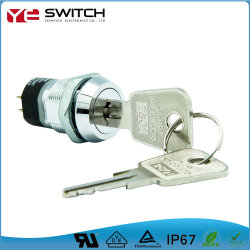 Spst de alta calidad 2 Posición momentánea del interruptor de bloqueo de llave de seguridad