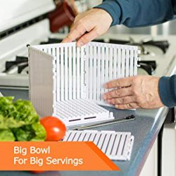 Большие резательное оборудование серверов пластиковые фруктовый салат чашу измельчителя режущий блок заслонки смешения воздушных потоков