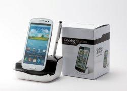 Nieuw Universeel het Laden van de Desktop Dok met Audio uit voor de Melkweg S4/S4 Mini/S3/Note 2/Note 3/Mega 6.3 I9200 etc… van Samsung
