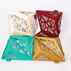 Material de decoración de revestimiento de aluminio de 3D de corte láser para la construcción de paneles de pared