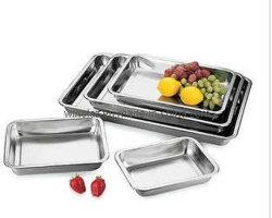 Cassetto del servizio del piatto dell'alimento del cassetto del quadrato dell'acciaio inossidabile