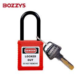 38mm candado de bloqueo de candado de seguridad de Nylon con grillero de colores
