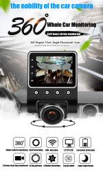 X360 Voiture DVR Dash caméra 1080P 360 Degré Angle de vue de l'enregistreur vidéo Dashcam Boîte noire avec WiFi