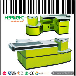 Banco cassa inox supermarket elettrico con nastro trasportatore (HBE-007)