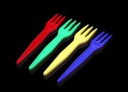 Mini Fork 8.5cm 길이, 무티 컬러 친환경 콤포시 식사용 주방 용품 생분해성 테이블워스 플라스틱 수저 포크