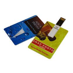 Design livre Ultra-Clear Cartão de Crédito Empresarial Unidade Flash USB 2.0 com o logotipo personalizado 16GB para promoção de publicidade